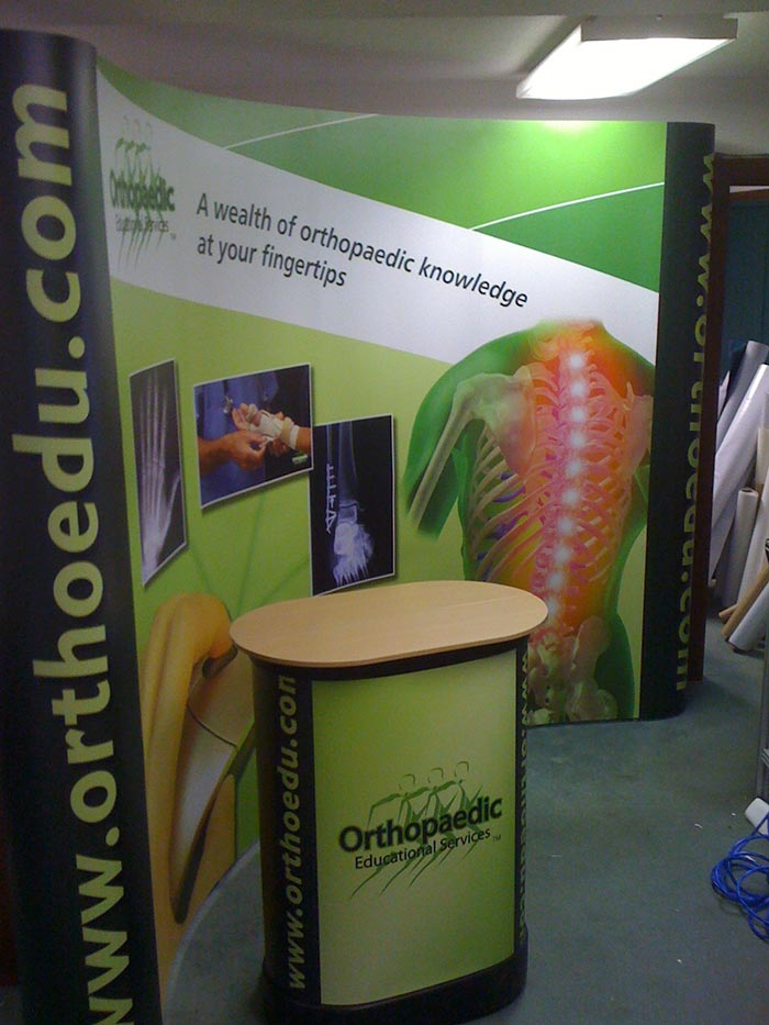 10 Foot Tradeshow Display and Table Top