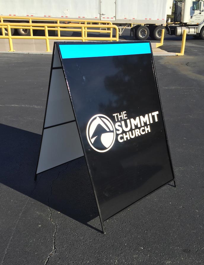 A-frame The Summit Church Print & Install