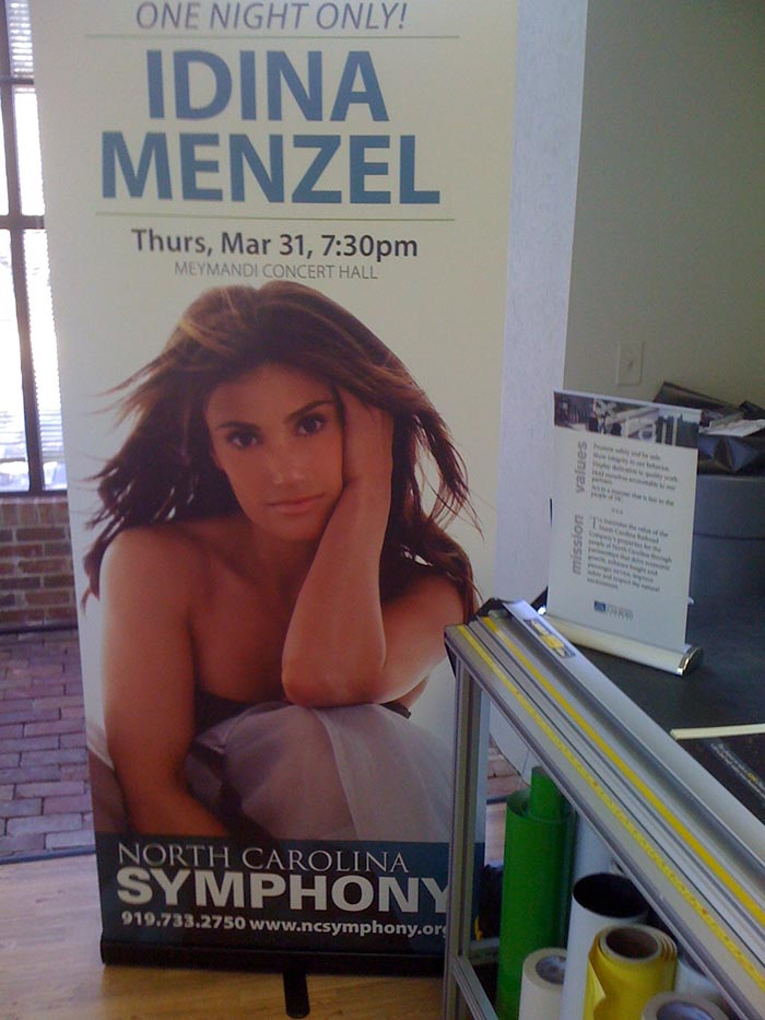 Banner for NC Symphony