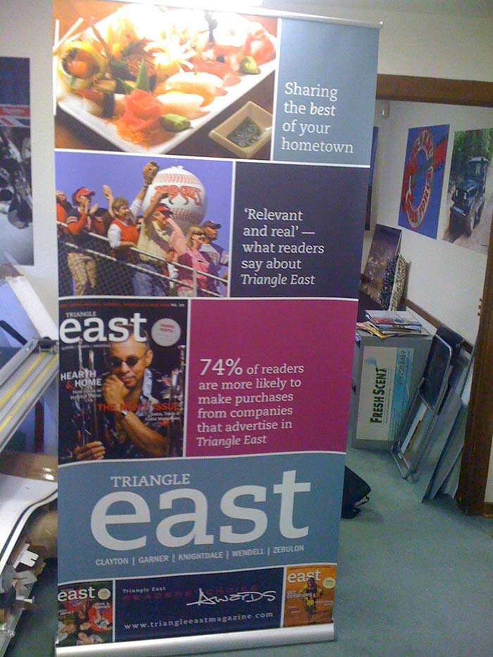 Banner Stand Triangle East