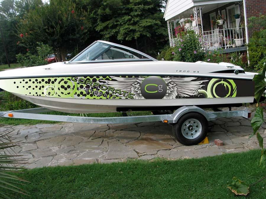 Boat Wrap Mockup