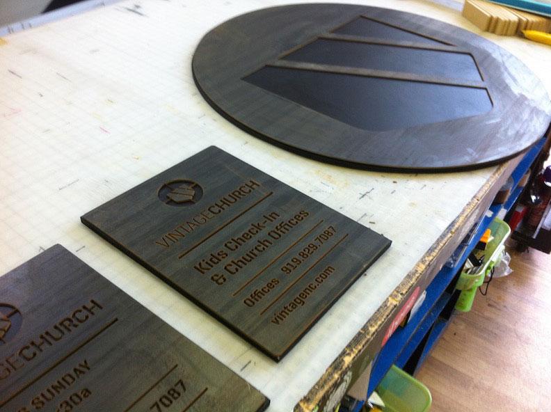 CNC Steel Vintage Church Print & Install