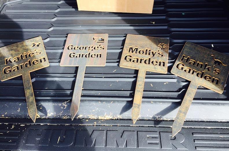CNC Steel Garden Signs