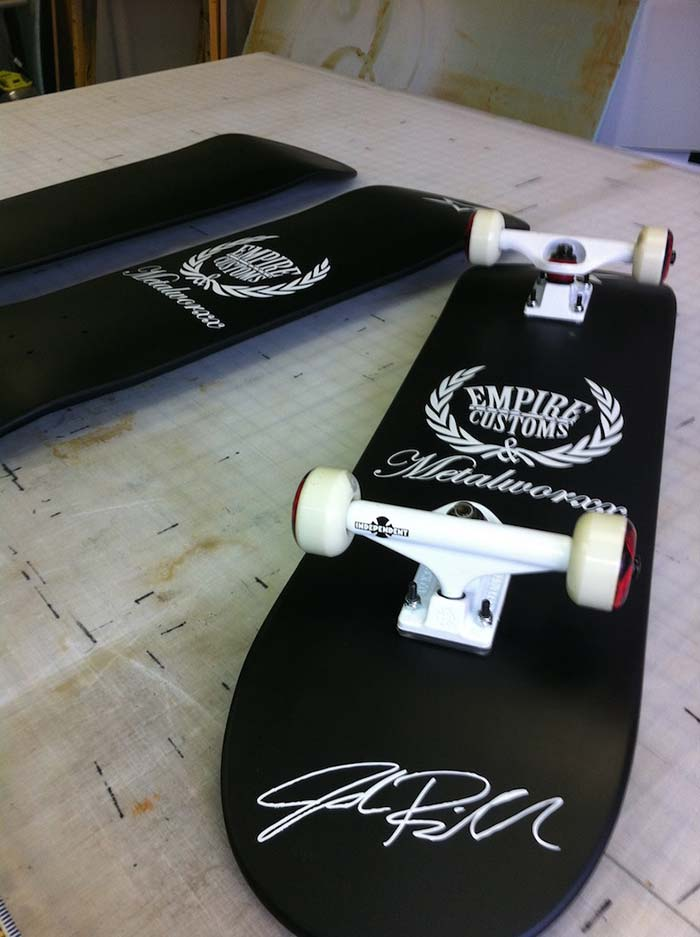 Custom Skateboard Matte Black