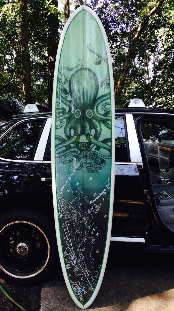 Custom Surfboard Printed Fabric