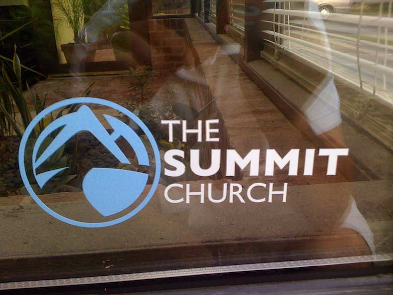 Die-cut Vinyl Stickers for The Summit Church