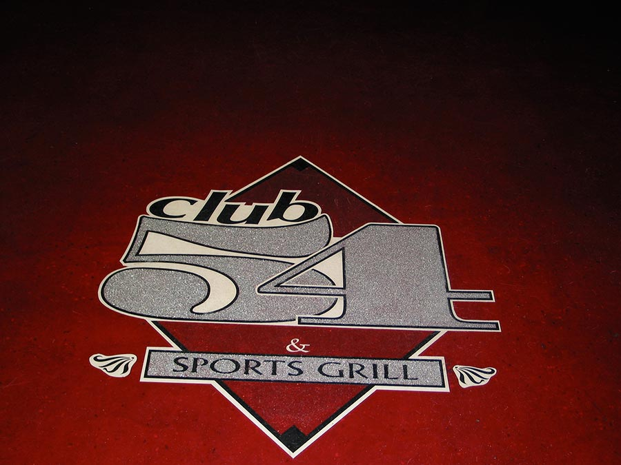 Club 54 Floor Graphic