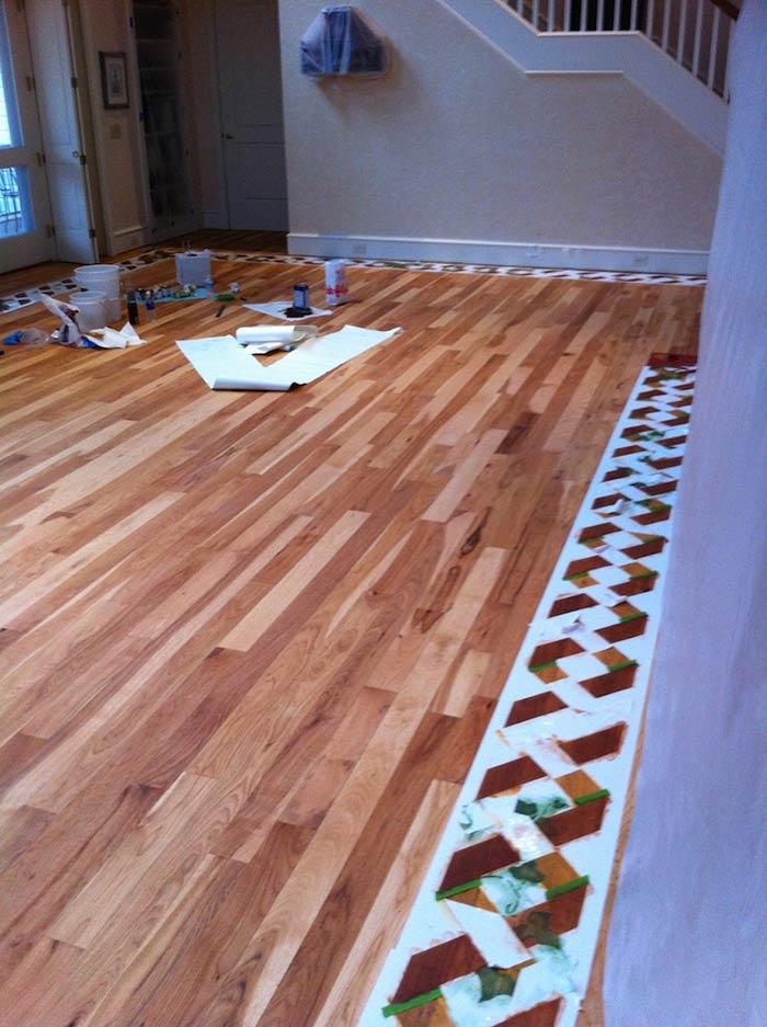 Floor Graphic Stencil Artco Print & Install