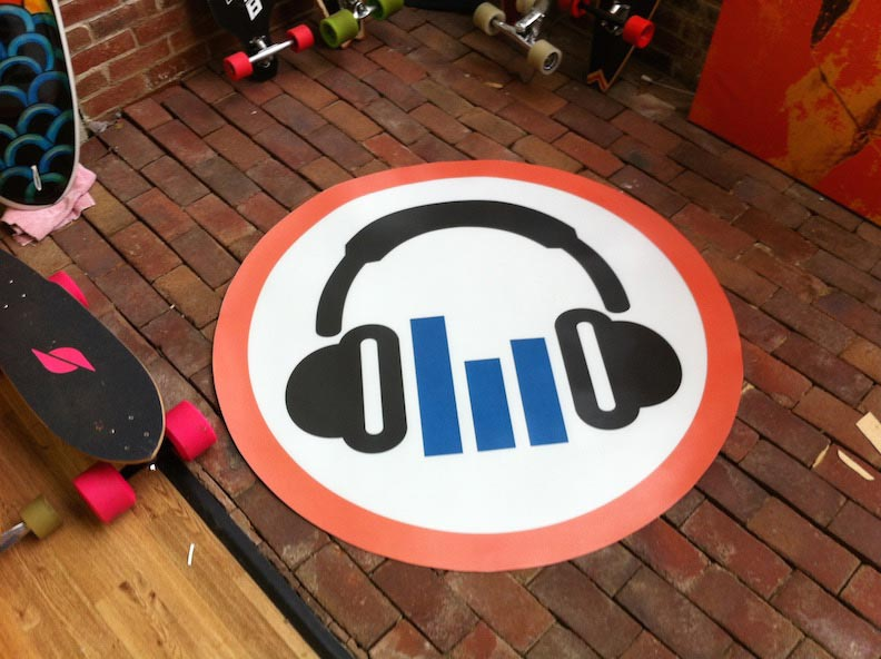 Floor Graphics and Logo DJ Design, Print & Install