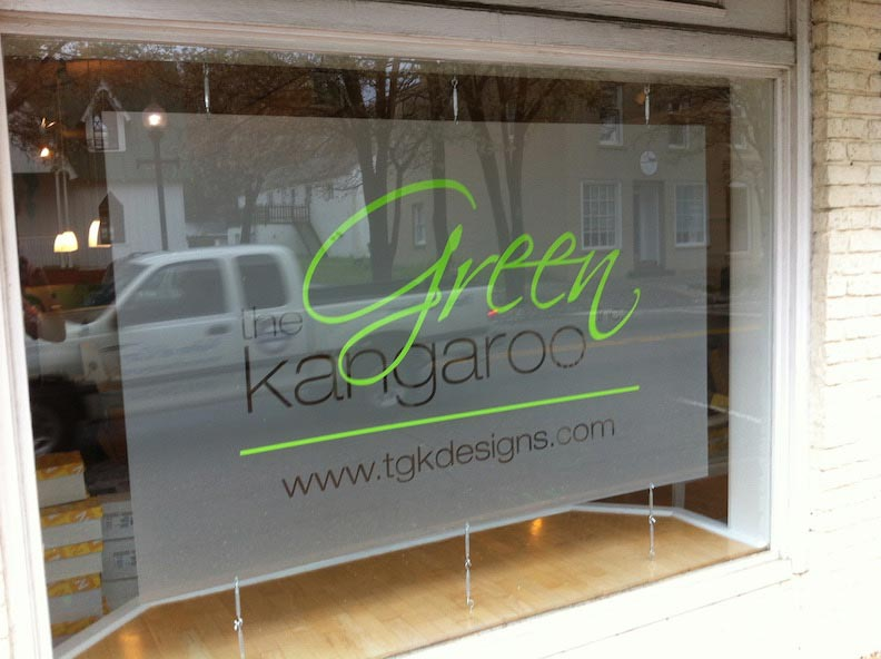 Frosted Vinyl and Plexi Green Kanga Print & Install