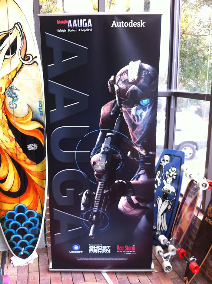 Banner Stand AAUGA Gamers