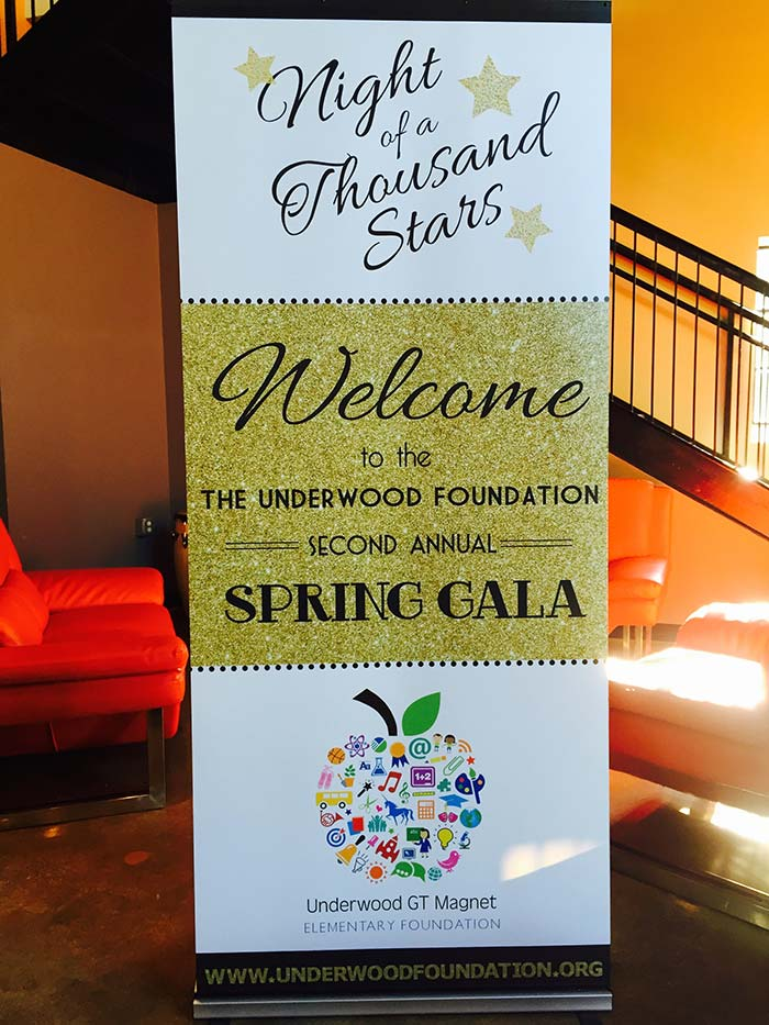 Banner Stand The Underwood Foundation
