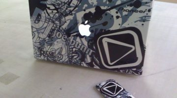 Laptop and iPhone Wrap for DJ Joe Bunn