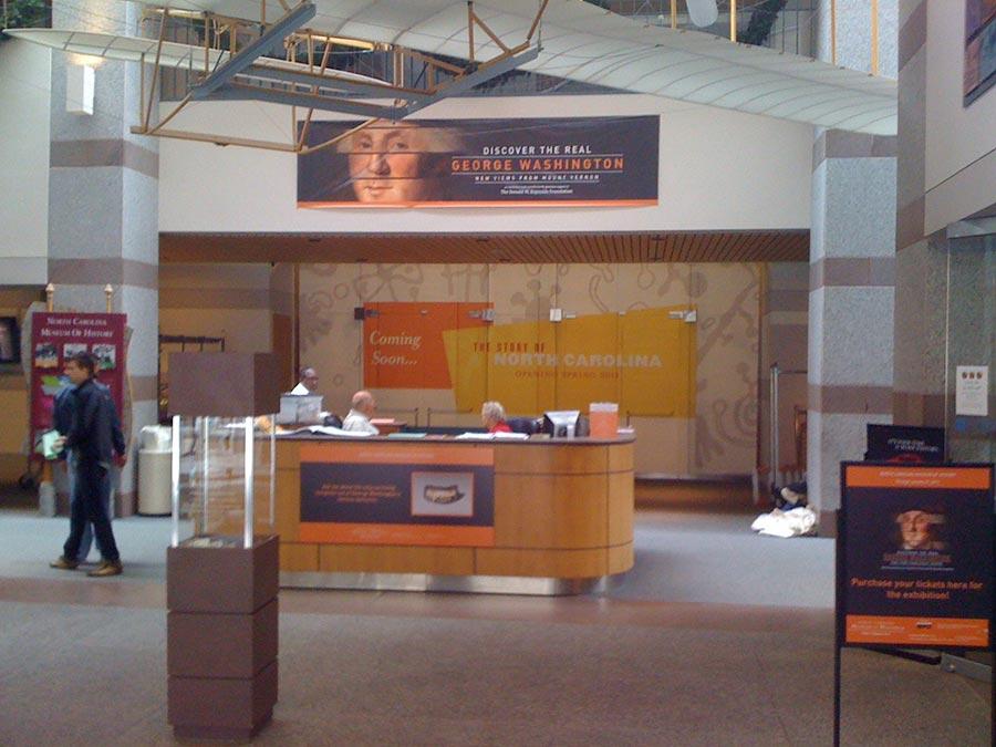NC History Museum Wall Wrap
