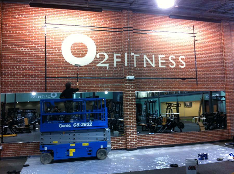 O2 Fitness Stencil Artco