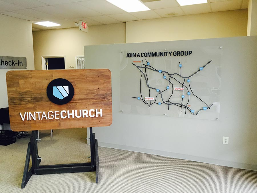Plexi Map Vintage Church