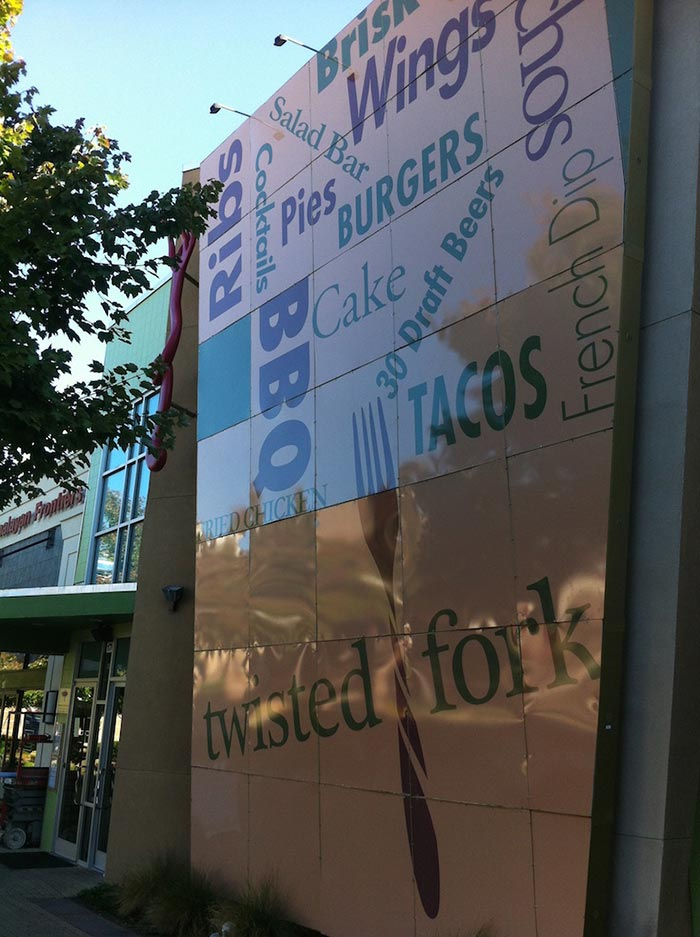Plexi Signs for Twisted Fork Print & Install