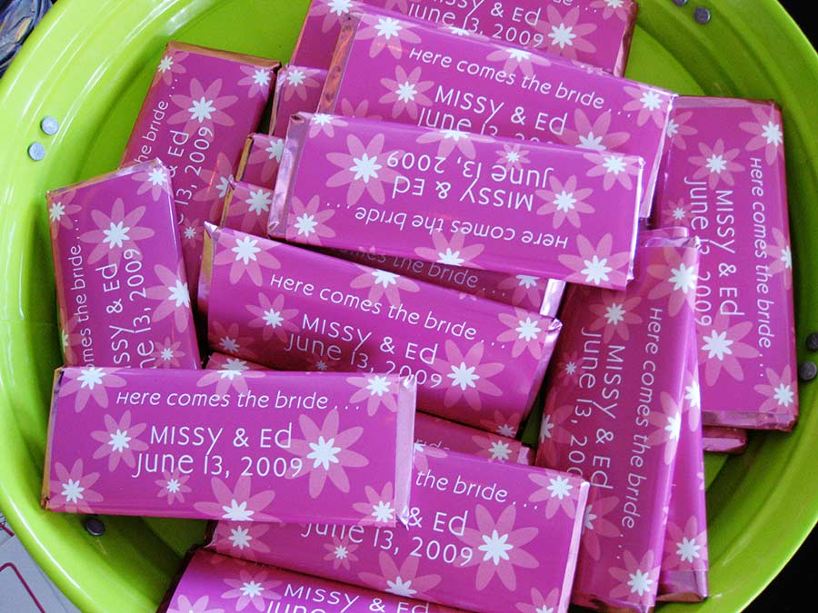 Save the Date Candy Wrappers
