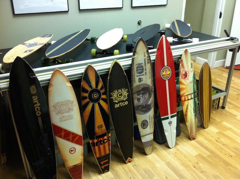 Skateboard Graphics Artco Print