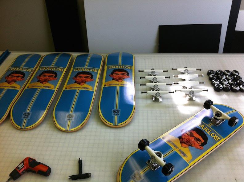 Skateboard Graphic Gnarlos Print