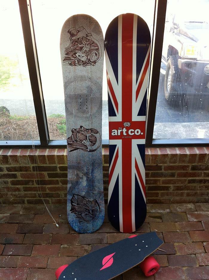 Snowboard Wrap Design & Install
