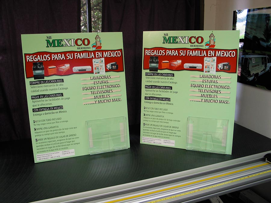 Tabletop Signs Print, Design & Install