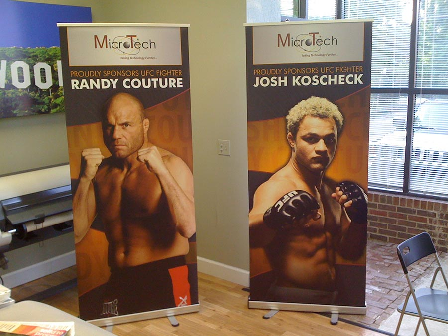 UFC Banner Stand at Mico-Tech