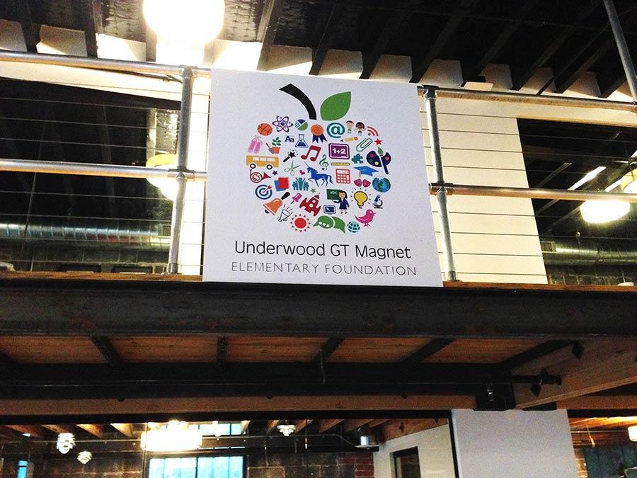 Underwood Logo on Foamboard