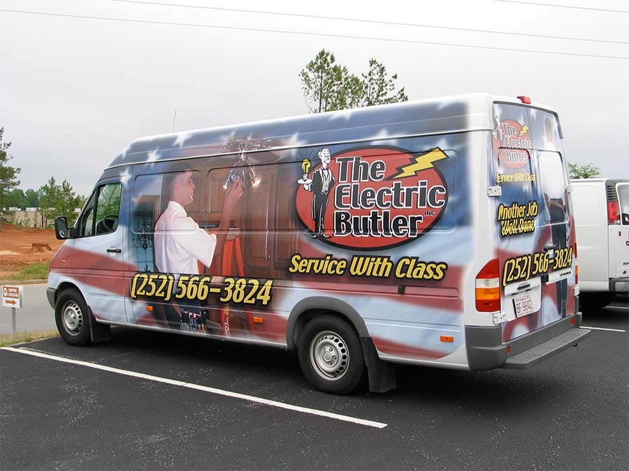 Van Wrap Electric Butler Design, Print & Install