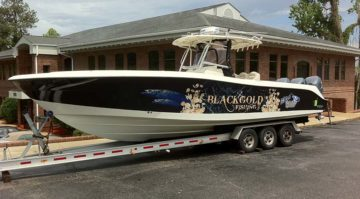 Boat Wrap Black and Gold