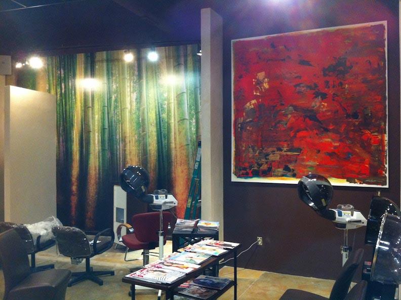Wall Wrap Color Salon & Day Spa Print & Install