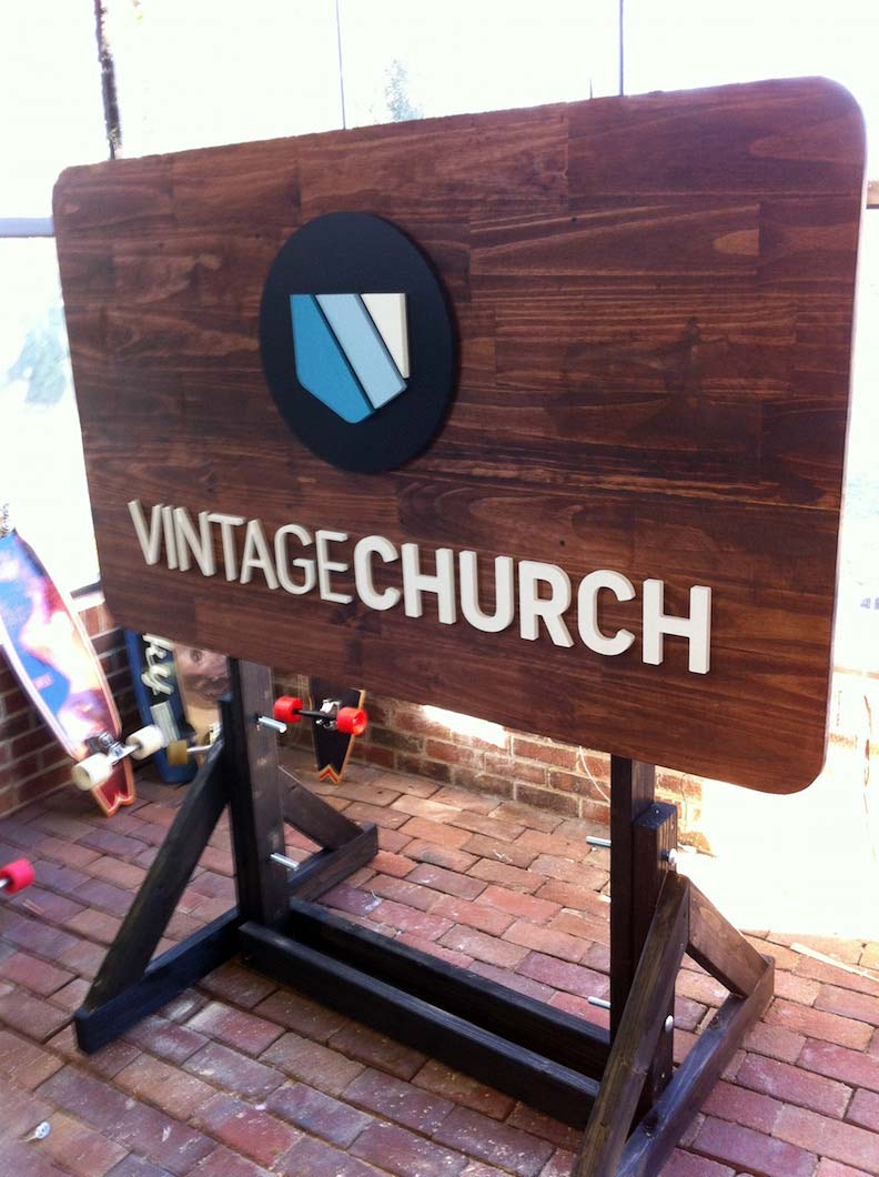 Wood CNC Vintage Church Design & Print